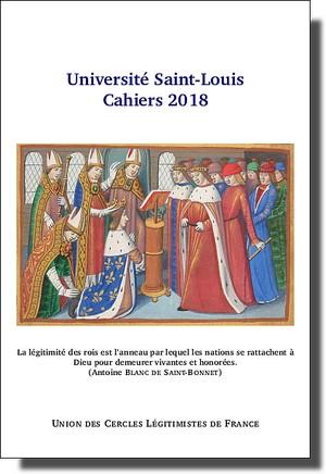Les Cahiers de l'Université Saint-Louis 2018  (UDT de l'UCLF) Cahiersusl2018vignette-5f9f8